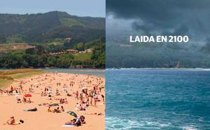 Euskadi en 2100: el mar se come la playa de Laida y el sol seca el viñedo alavés