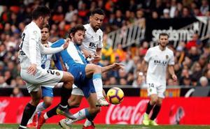 Reparto de puntos en Mestalla
