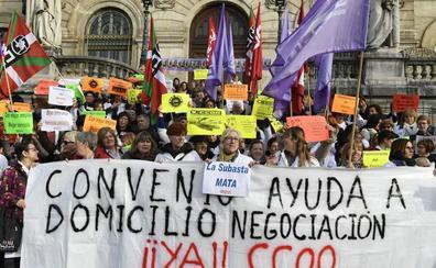 Cinco días de huelga en el servicio de Ayuda a Domicilio de Bizkaia por un convenio digno