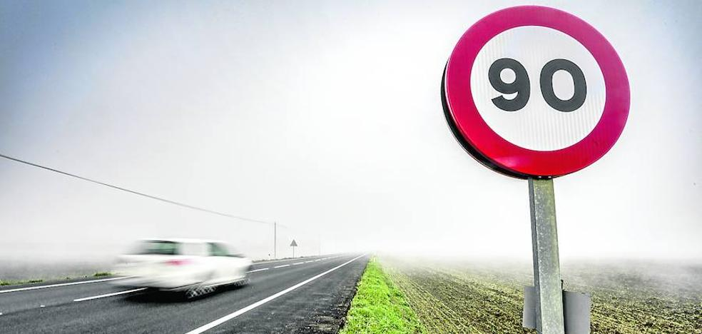 Las carreteras con reducción a 90 en Álava apenas registran el 13% de los accidentes