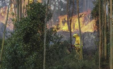 Los incendios se calman y los militares se retiran de Cantabria