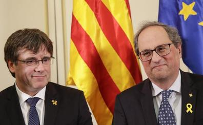 Torra acusa al presidente de la Eurocámara de utilizarla como «marioneta de la extrema derecha y de Borrell»