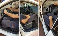 La solución para el ertzaina que no entre en el coche: «Estiramientos y salir cada 20 minutos»