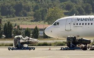 «No nos hemos comido un buitre de chiripa», protesta un piloto a la torre al aterrizar en Loiu
