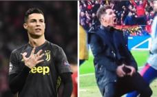 Los feos gestos de Cristiano y Simeone en la Champions