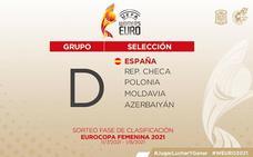 España, en el grupo D junto a la República Checa, Polonia, Moldavia y Azerbaiyán