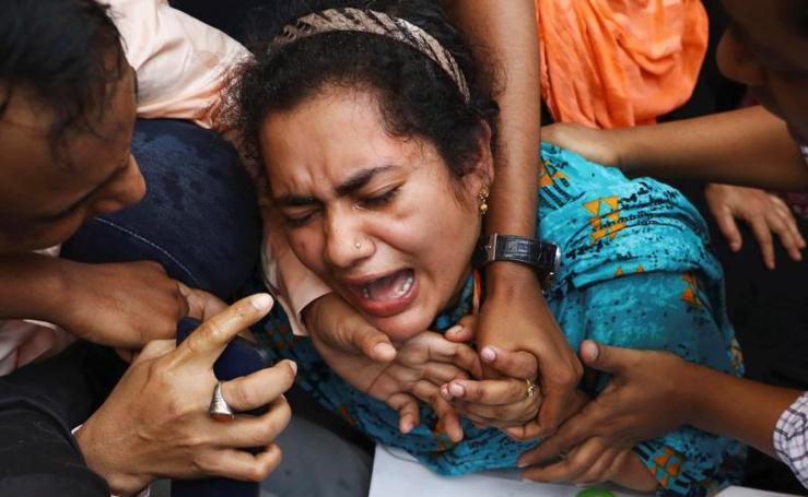Así fue el incendio en la capital de Bangladesh