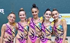 Salma Solaun y Teresa Gorospe debutarán con la selección junior de rítmica en Marbella