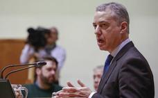 Urkullu acusa al PP de «incitar a prevaricar» y «provocar» con su veto a las transferencias