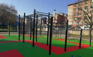 Arrigorriaga habilita un parque para practicar ejercicio al aire libre
