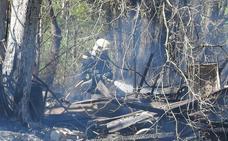 Muere un hombre carbonizado en un incendio en Derio