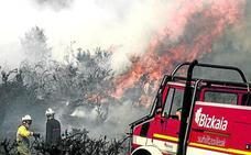 Seis incendios en menos de 24 horas en Bizkaia