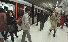 Retrasos en el metro por una avería en la estación de Indautxu