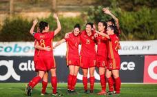 Jenni Hermoso da el triunfo a España ante la vigente campeona de Europa