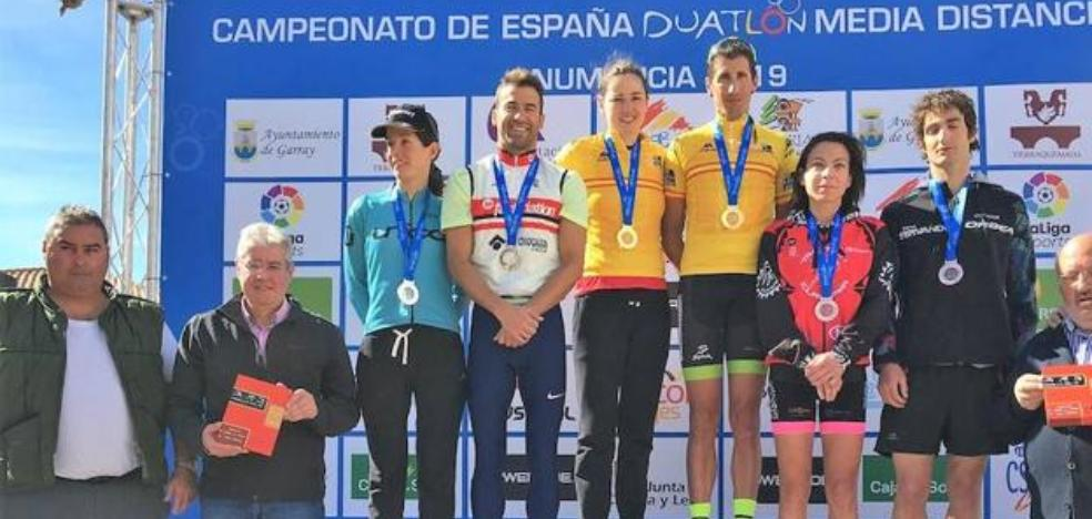 La bilbaína Helene Alberdi, campeona de España de Duatlón de Media Distancia