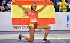 Ana Peleteiro, oro y récord de España de triple con 14,73
