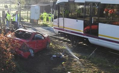 Herido un conductor tras ser arrollado por un tren en Zalla