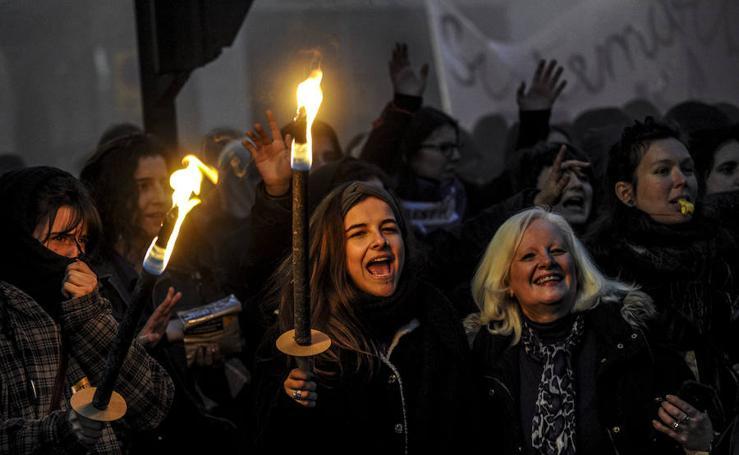 Las fotos de la manifestación del 8-M de Vitoria