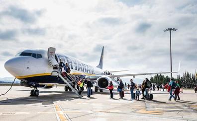 Foronda recibió solo dos de los 230 vuelos desviados de Loiu y Hondarribia