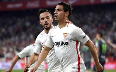 Un triplete de Ben Yedder desatasca al Sevilla
