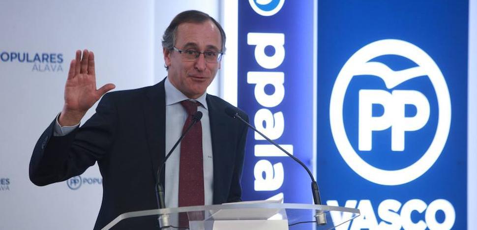 Alonso dice que «la puerta está abierta» para una alianza PP-Ciudadanos en Euskadi