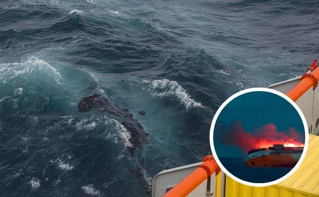 La marea negra del mercante naufragado no llegará este fin de semana a la costa vasca