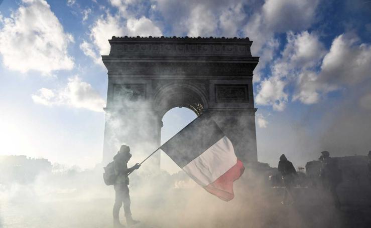 Violencia en la manifestación de los «chalecos amarillos» en París