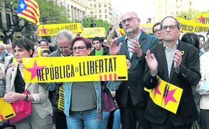 El secesionismo busca hoy en Madrid una exhibición de fuerza en pleno juicio
