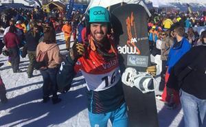 Lucas Eguibar snowboardlari euskaldunak garaipena lortu du asteburu honetan Suitzan