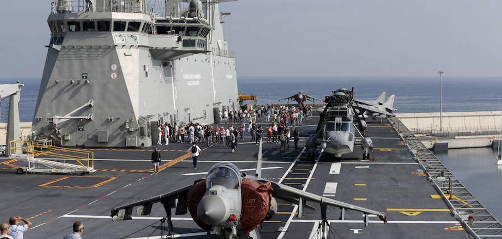 El 'Juan Carlos I' realizará su maniobra militar «más ambiciosa» de camino a Getxo