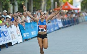 Lidia Campo, vencedora en la Carrera de San José de Villasana de Mena