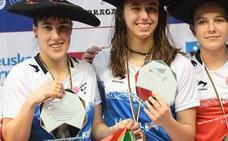 Leire Etxaniz, triple campeona del Parejas femenino: «Ya somos referentes para muchas niñas»