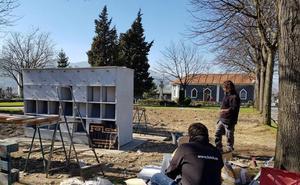 Santurtzi instala columbarios para cenizas en el cementerio