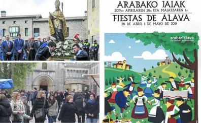 La sustitución de 'San Prudencio' por 'fiestas de Álava' enfrenta a Diputación y Obispado