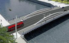 Once tráilers de hasta 40 metros traerán de Sevilla el segundo puente de Zorrozaurre