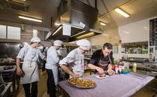 Visita al vivero de los cocineros alaveses