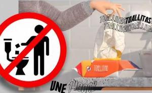 Los fabricantes de toallitas lanzan una campaña para enseñar a desecharlas correctamente