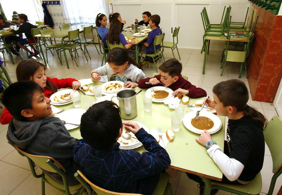 1.044 alumnos de Infantil y Primaria hacen uso a diario del comedor en sus colegios