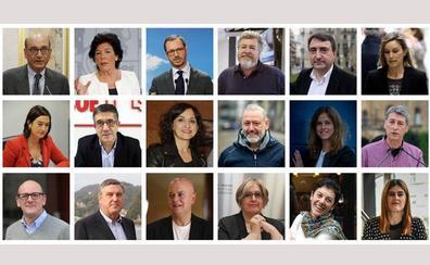 Los posibles 18 diputados vascos en el Congreso