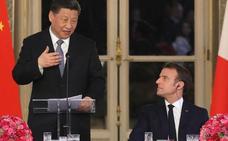 Macron desenrolla la alfombra roja para recibir con honores a Xi Jinping