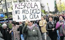 Los colegios religiosos advierten de que las huelgas ponen «en riesgo» puestos de trabajo de profesores