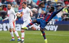 Levante y Eibar empatan en un partido con emoción y errores