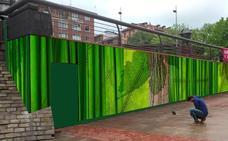 Un mural decorará la plaza del Kasko de Sestao