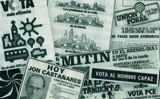 Así era la propaganda en las primeras elecciones municipales, hace 40 años