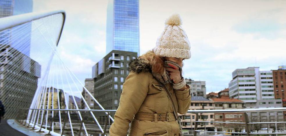 Una masa de aire frío de Groenlandia desplomará los termómetros hasta los -2 grados en Euskadi