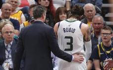 Ricky Rubio se lesiona a las puertas de los playoffs