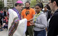 «Me siento muy contento de poder celebrar la misa con los eskauts»