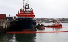 Depositan para su reciclaje en el Puerto de Bilbao chapapote del Grande America