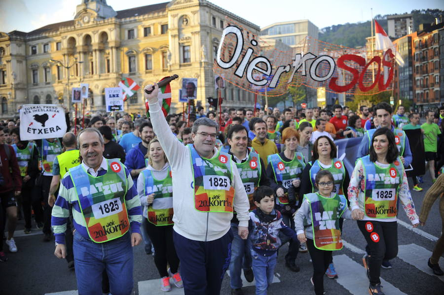 La Korrika atravesará un centenar de calles y plazas de Bilbao para incentivar el euskera