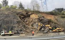 140 camiones trasladarán la tierra desprendida en el corredor del Cadagua